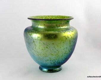 Loetz PN I - 7830 Crete Papillon Décor Jugendstil Art Glass Vase - Ca. 1900