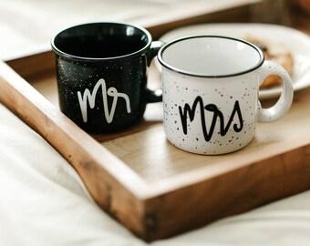 Mr and Mrs Mugs, Mr and Mrs Wedding Gift, Campfire Mug, Camp Mug, Mr and Mrs Campfire Mug, Wedding Gift, Fall Mugs, Couples Mugs