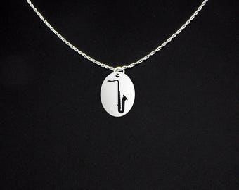 Saxophone Necklace - Band Teacher Gift - Sax Teacher Gift - Band Teacher Necklace - Sax Teacher Necklace - Tenor Saxophone