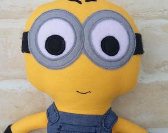 Minion Inspired Doll Handmade -Superhero - Softie First Birthday Cloth Boy Rag Doll - Child Friendly- Made to order- dolly dress up