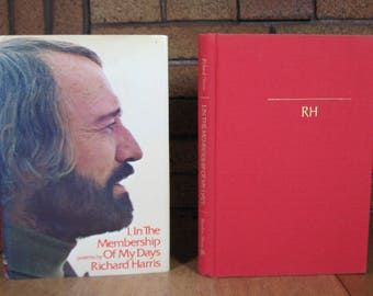 I, In The Membership Of My Days: Poems by Richard Harris - HC 1st Edition 1973