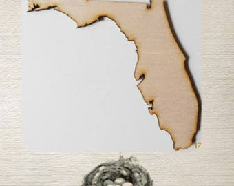 Florida State (Large) Wood Cut Out - Laser Cut