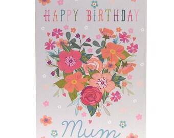 Happy Birthday Mum - Birthday Card for Mum - Mum Birthday Card - Card for Mum