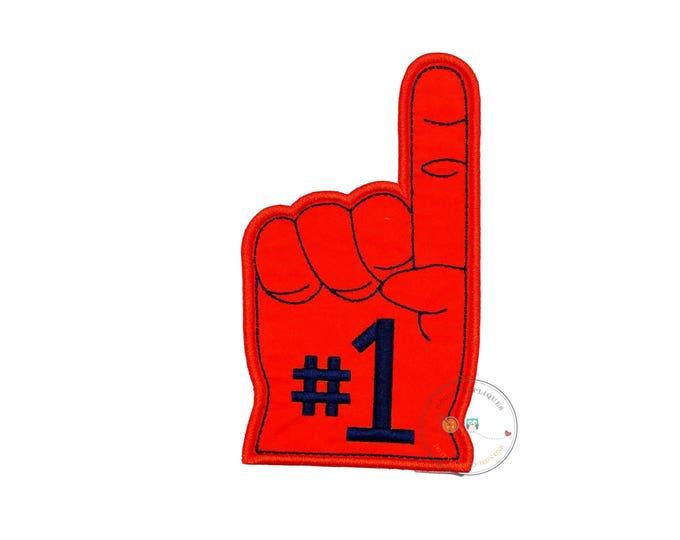 Fan ware foam finger applique
