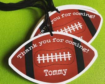 Football Themed Party Favor Tags - Personalized