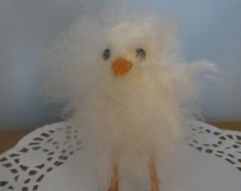 """Fuzzy chick,Easter ornament,Easter Springtime decor decoration,Peeps,Yellow,3-1/2,""""Craft supply"""