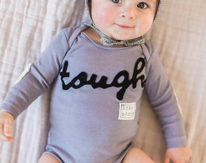 "Swanky Shank Gender Neutral ""Tough Like Mommy"" Hand-Dyed shirt or bodysuit"