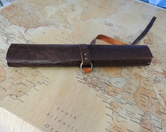 Handmade Leather Knife roll / chef roll / chef bag / tool roll 7
