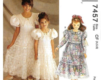 McCall's 7457 Alicyn Exclusives Special Ocassion Dress Pattern, 4-5-6, UNCUT