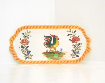 Rooster Kitchen Ceramic Butter Dish / Compliments Fiestaware > 50 to 60s > Kakusan Made in Japan