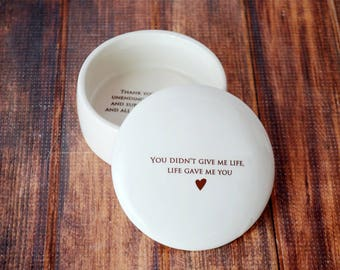 Stepmother of the Bride Gift or Stepmother of the Groom Gift - Keepsake Box - You didn't give me life, life gave me you - With Gift Box