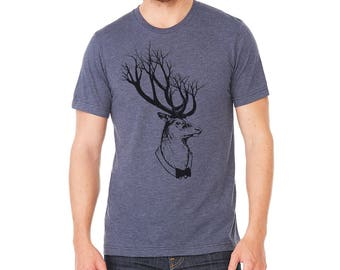 Deer Tree Antlers T-Shirt | Men's tshirt | Graphic Tee | Deer shirt | Trees | Unisex T-shirt | Antlers | Gift for guys | graphic tshirts