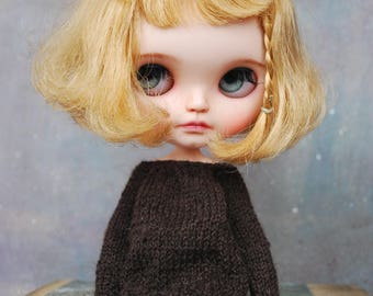 Handmade sweater for BLYTHE doll * hand knit * Pure Neemo Body size * outfits * blythe clothes * knitted clothes * clothes for doll * winter
