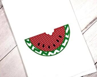 Watermelon Flour Sack Towel, Watermelon Tea Towel, Watermelon Kitchen Decor, Home Decor, Unique Foodie Gift, Modern Farmhouse, Gift For Her