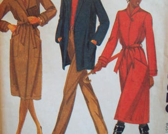 Loose-Fit Coat or Jacket with Detachable Liner Palmer & Pletsch McCall's Pattern 7320 Size 12
