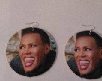 large grace jones earrings