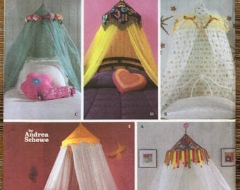 UNCUT Easy Canopy Sewing Pattern Simplicity 5126 Home Decorating, Teen, Kids Bedroom, Interior Design Pattern