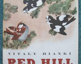 Red Hill Russian Children's Book in English Purchased In Russia in 1985 ... FREE SHIPPING!!