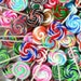 15 Mini Fake Swirl Lollipops Halloween Christmas For Fake Cupcakes Hair Bows Jewelry Accessory Decorations Dolls Grab bag Clay Lollipops