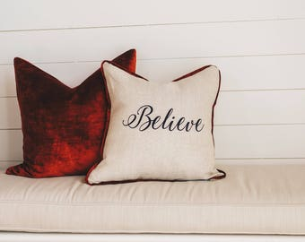 Believe Pillow Cover
