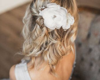 Rose Gold Hair Accessory, Rose Gold Bridal comb, Bridal hair accessories, Pearl Rose Gold Hair Clip, Rose Gold Wedding Hair Comb