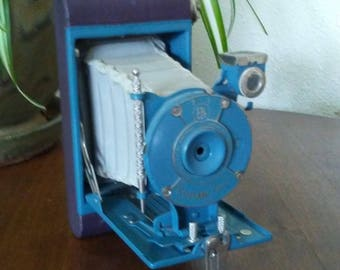 1930s Kodak Petite Folding Camera Aqua