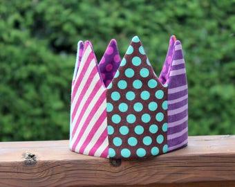 purple dots Kid Pretend & dress-up Crown