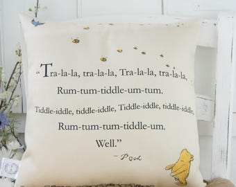 Winnie the Pooh Pillow with Pooh song from original books