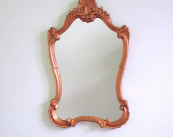 Magnificient Antique French Gold Gilt Wood Mirror- Antique Mirror in Good Condition - +80 years old - The Real Thing - Ancient Elegance