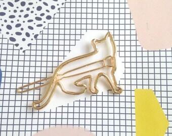 Kitty Cat kawaii Hair Barrette Hair Clip 5cm