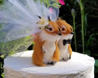 SALE WEDDING  ooak  romantic squirrel wedding cake topper or anniversary wedding cake