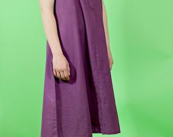 vintage 1970s laura ashley smock dress | cotton artists tunic | bohemian hippie dress | marron blue shirt dress | made in UK