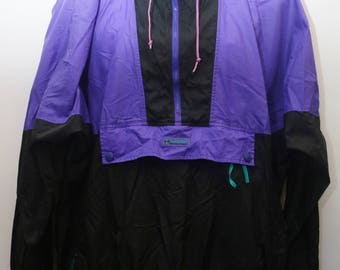 "Rare 90's Vintage ""COLUMBIA"" Colorblocked Windbreaker Pullover Jacket Sz: X-LARGE (Men's Exclusive)"