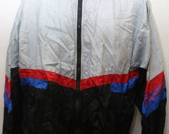 "Rare 90's Vintage ""CAMPUS"" Colorblocked Windbreaker Jacket Sz: X-LARGE (Men's Exclusive)"