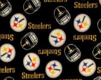 Pittsburgh Steelers - Blanket Made with Pittsburgh Steelers Fleece - Made to Order