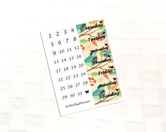 Fall In Love Date Cover Stickers For Your Planner