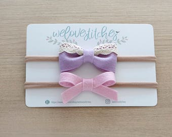 felt bow headbands - newborn headbands - baby bow - baby girl - baby girl headbands - infant headband - baby headband - headbands