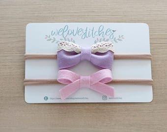 felt bow headbands - newborn headbands - baby bow - baby girl - baby girl headbands - infant headband - baby headband - headbands