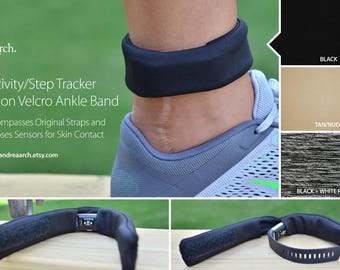 Activity/Step Tracker Nylon Velcro Ankle Band – Encompasses Original Straps and Exposes Sensors for Skin Contact
