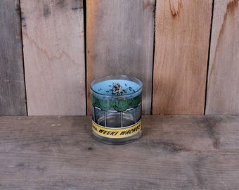 Vintage Weeki Watchee Souvenir Mermaid Tiki Kitsch Florida Attractions Barware Highball Glass