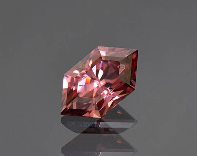 Excellent Rose Pink Zircon Rupee Gemstone from Tanzania 6.17 cts.