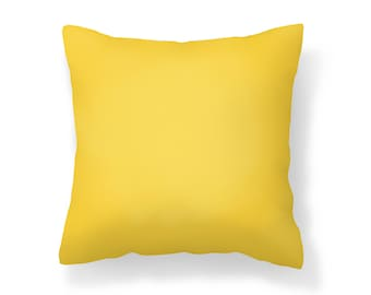 Yellow Outdoor Pillow /UV Resistant Pillow /Golden Yellow Pillow / Mildew Resistant / Patio Pillow / Outdoor Cushion / Water Resistant