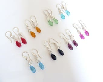 Swarovski Briolette Earrings- Swarovski Teardrop Earrings- Swarovski 6010 Earrings- Custom Color Swarovski Briolette Earrings- 440