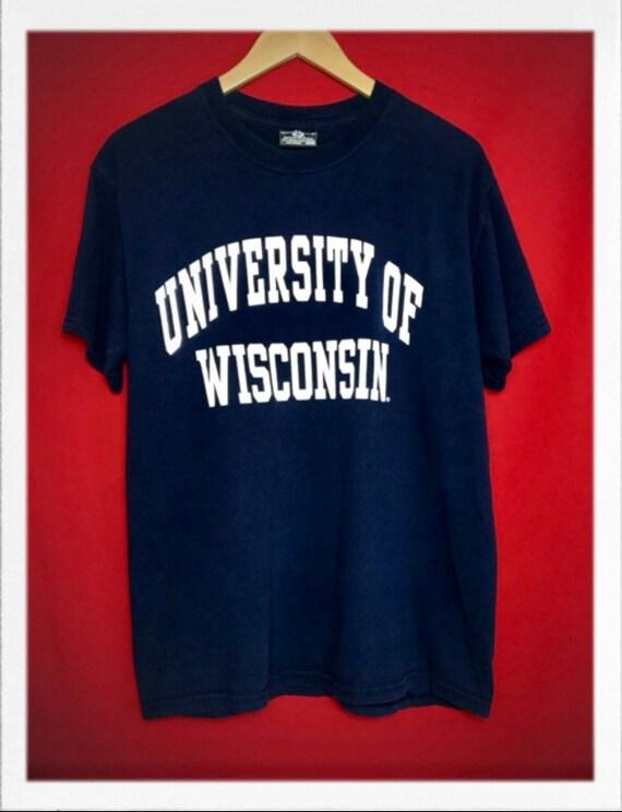 "Vintage University of Wisconsin Tee Size Medium 20"" width 27"" length"