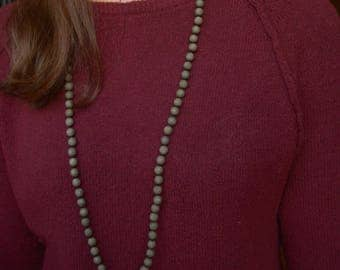 Iron Pyrite long knotted necklace