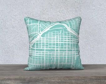 Calgary Alberta Map Pillow Cover