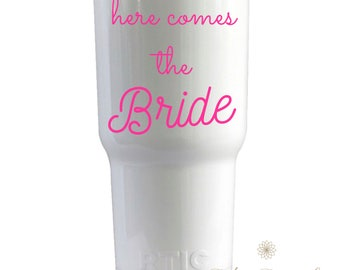 YETI Cup Decal: Bridal Shower, Bachelorette Party, Brides Maid and Bridal Party Gifts
