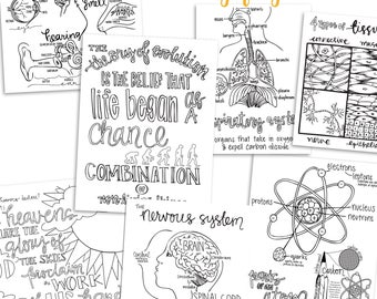 Science Coloring Pages | Classical Conversations Cycle 3