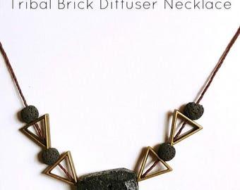 Tribal Brick Diffuser Necklace