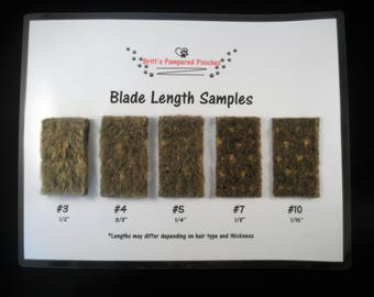 Grooming Blade Length Sample Chart for Businesses
